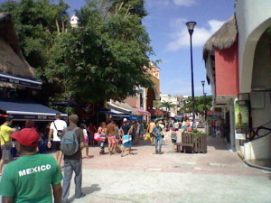 The main street of Playa del Carmen