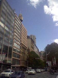 A typical street in Sydney