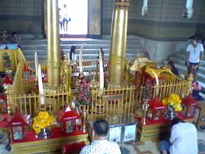 The Pillar of the City shrine in Bangkok, Thailand