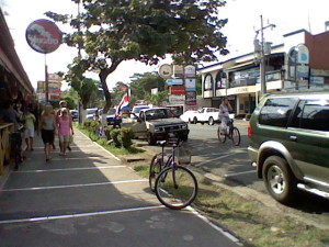 The main street of Jaco Beach, Costa Rica
