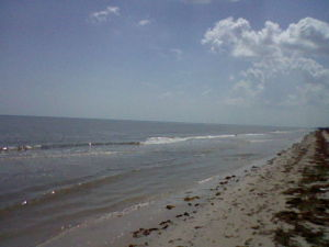 Gulf Coast beach in Texas