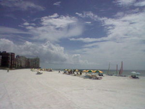 The beach on Marco Island in Florida