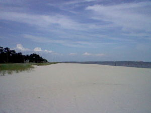 The beach in Waveland in Mississippi