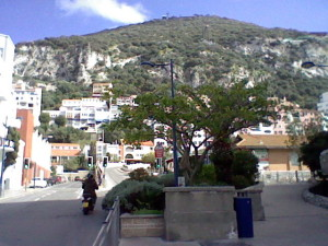 Rock of Gibraltar from the city