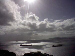 The view West towards the Atlantic Ocean
