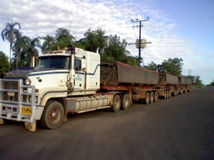 A truck with 4 (!) trailers in Northern Australia